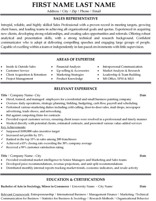 representative resume sample template associate examples registered respiratory therapist Resume Sales Associate Resume Examples