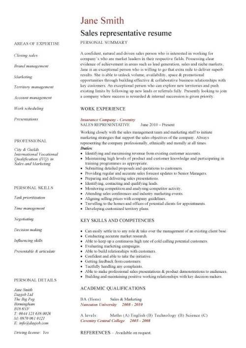 representative resume template professional pic daycare objective lds builder business Resume Sales Professional Resume Template