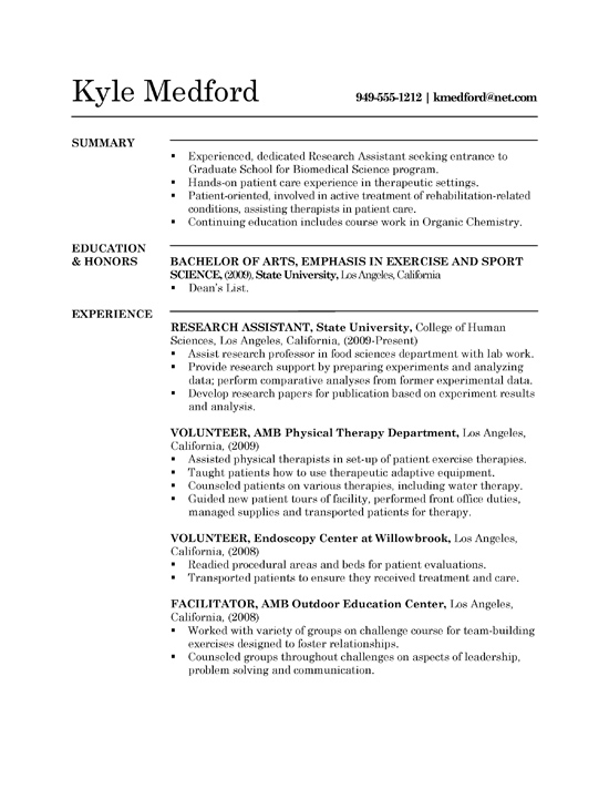 research assistant resume example sample entry level lab grad1a sitecore architect Resume Entry Level Lab Assistant Resume