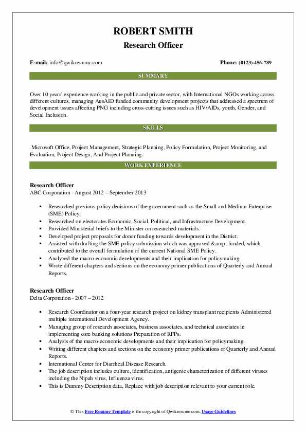 research officer resume samples qwikresume pdf intern responsibilities additional Resume Research Officer Resume