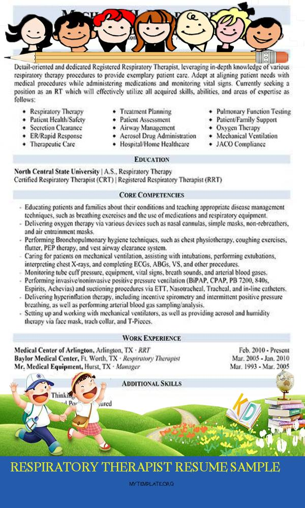 respiratory therapist resume sample free templates of pin for second job out college Resume Free Respiratory Therapist Resume Templates