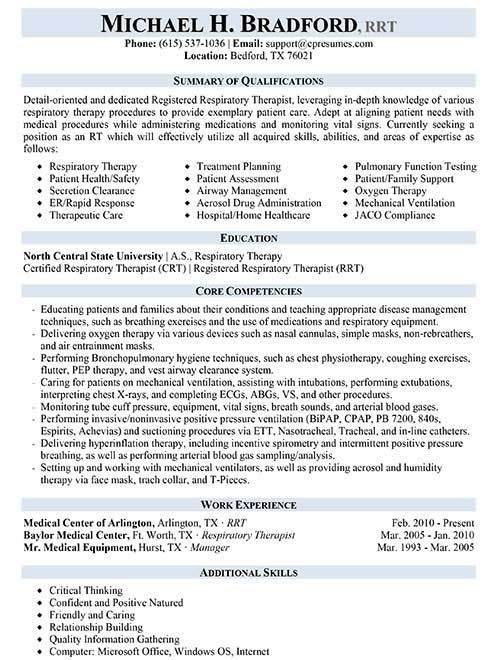 respiratory therapist resume sample therapy jobs junior level document controller skills Resume Respiratory Therapist Resume Sample