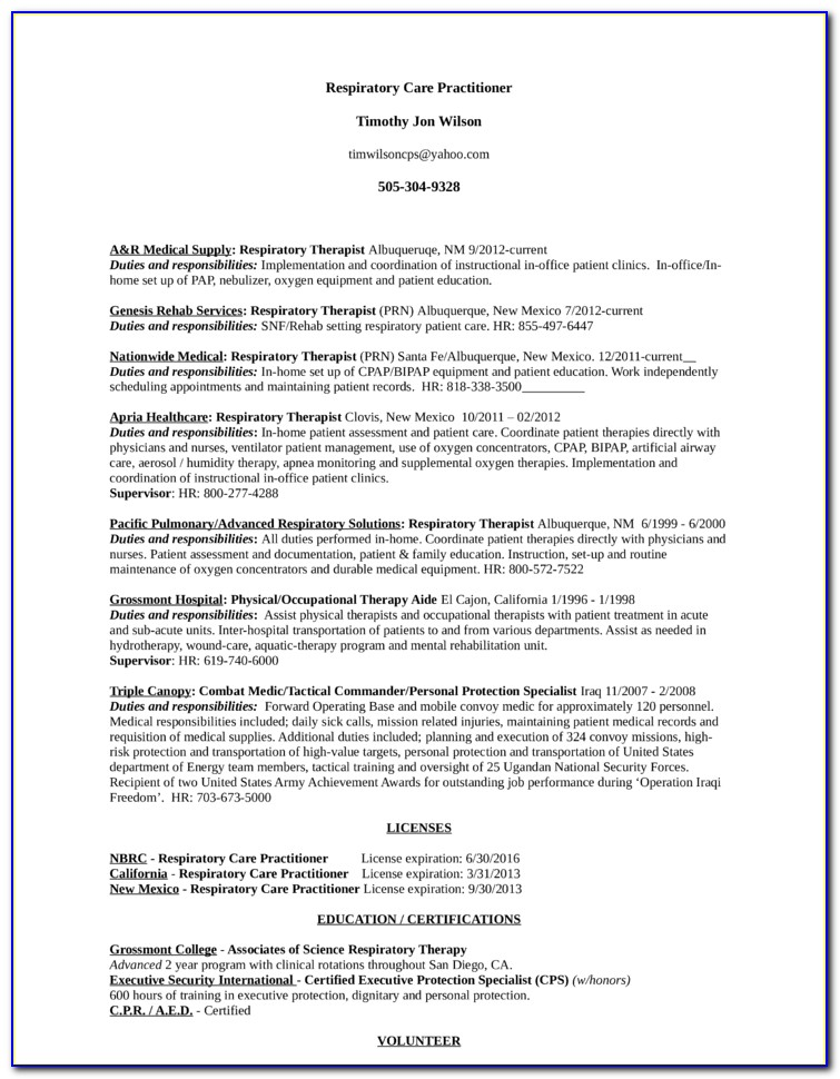 respiratory therapist resume sample vincegray2014 ecommerce description for unemployed Resume Respiratory Therapist Resume Sample