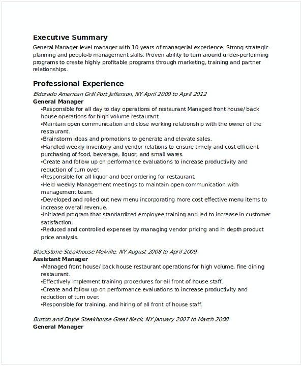 restaurant general manager resume find the things that you need to know for your Resume Restaurant General Manager Resume
