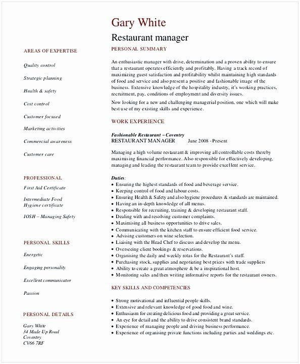 restaurant general manager resumes awesome resume template management project opposite Resume Restaurant General Manager Resume