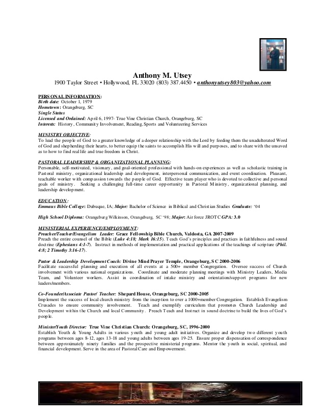 restaurant manager resume cover letter church ministry templates reference section of Resume Ministry Resume Templates For Word