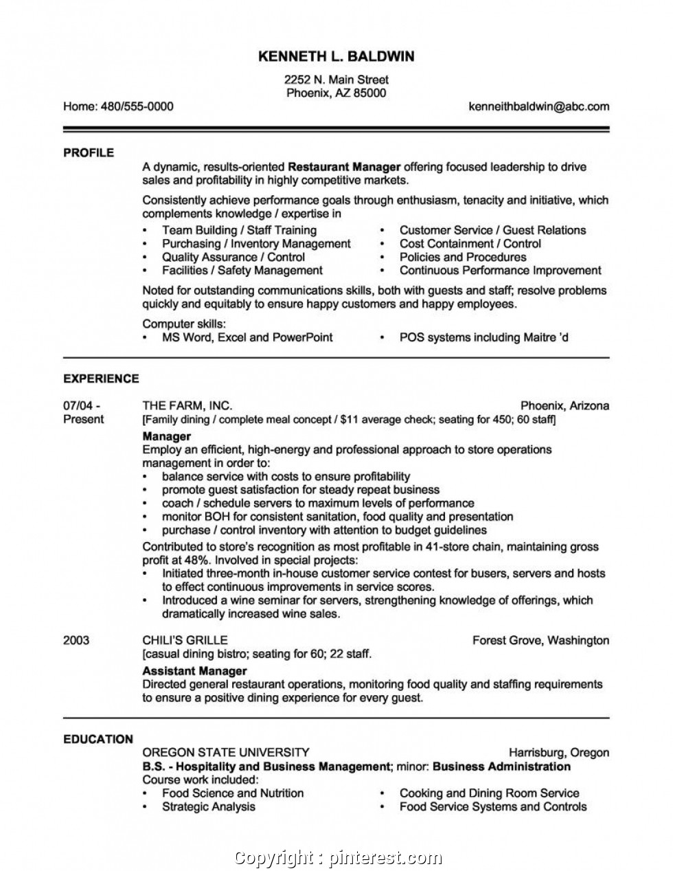 restaurant manager resume objective free templates assistant simply computer engineering Resume Restaurant Assistant Manager Resume