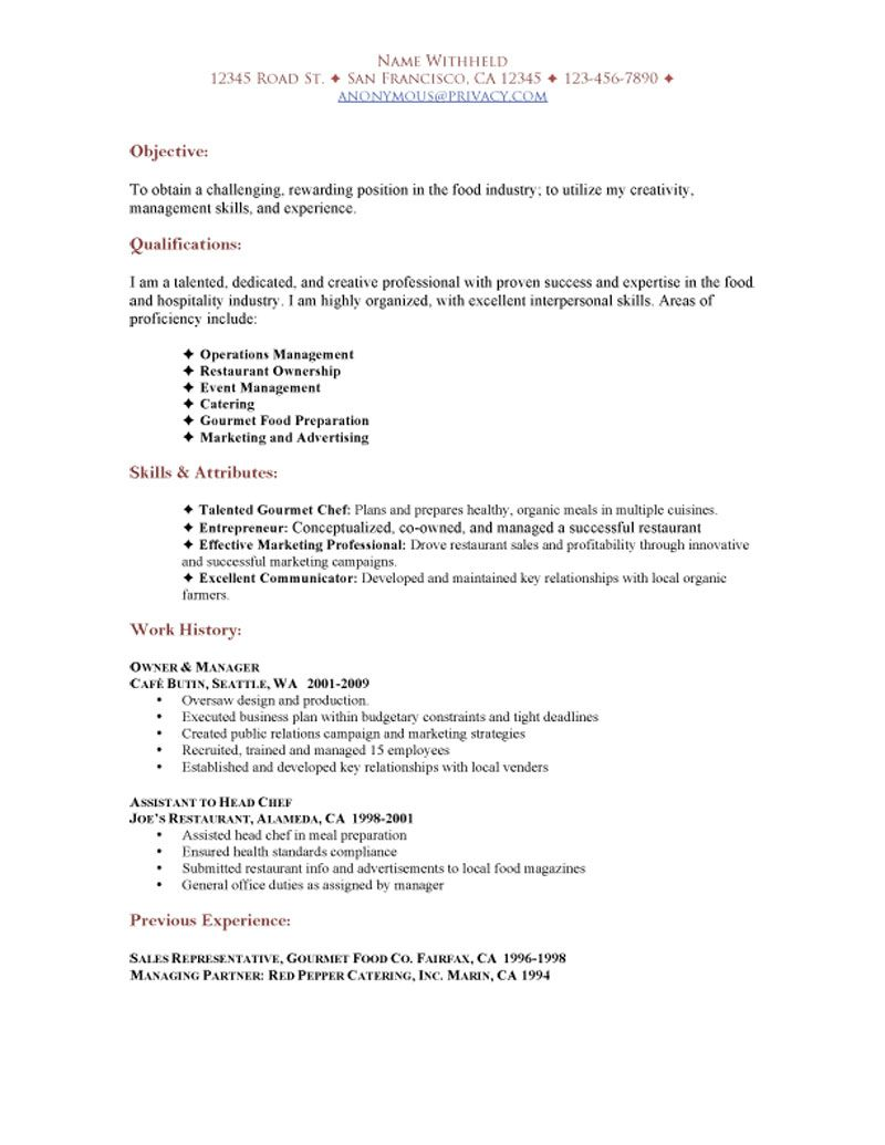 restaurant resume experience for functional theatre sample college student with little Resume Restaurant Experience For Resume