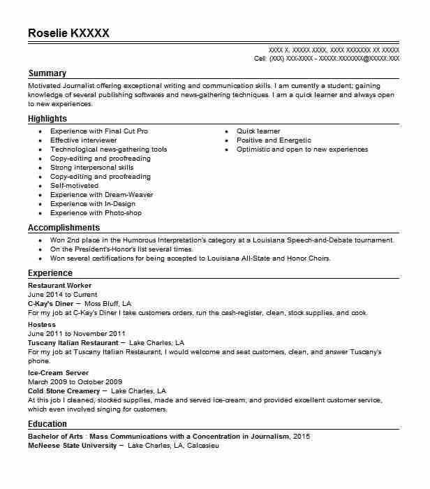 restaurant worker resume example resumes livecareer experience for building operations Resume Restaurant Experience For Resume