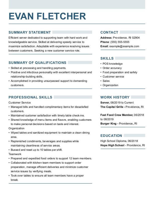 resume builder for perfect resumes fill in server strong funcc managing interns on Resume Fill In Resume Builder