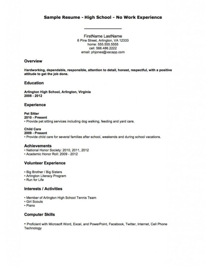 resume examples after first job resumeexamples template high school student business Resume High School Student Resume Examples First Job