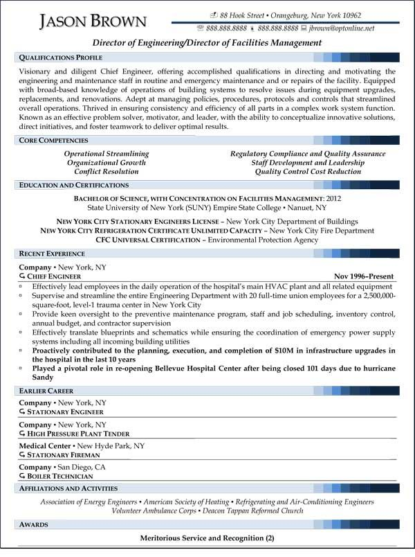 resume examples and templates professional writers job samples project manager facility Resume Facility Executive Resume
