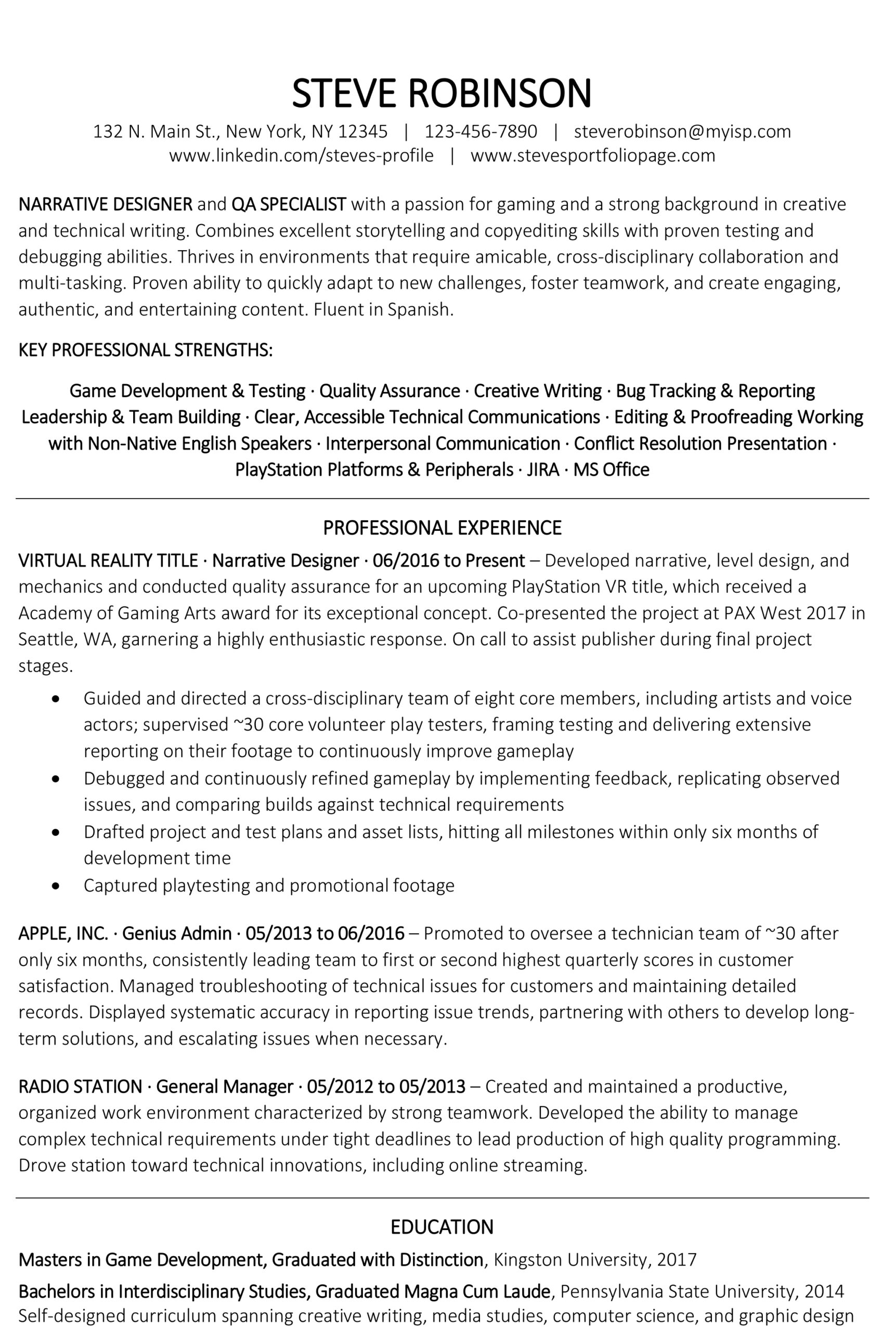 resume examples and tips oracle resumes good strengths for recent grad free sample of job Resume Good Strengths For Resume
