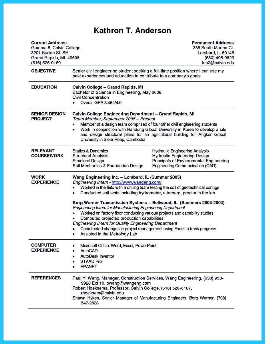 resume examples for students trendy best current college student with no experience of Resume First Time Resume For College Student