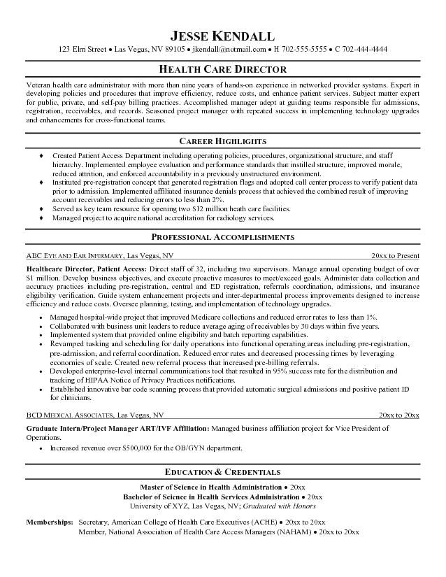 resume examples healthcare management job samples objective sample career for Resume Career Objective For Healthcare Administration Resume