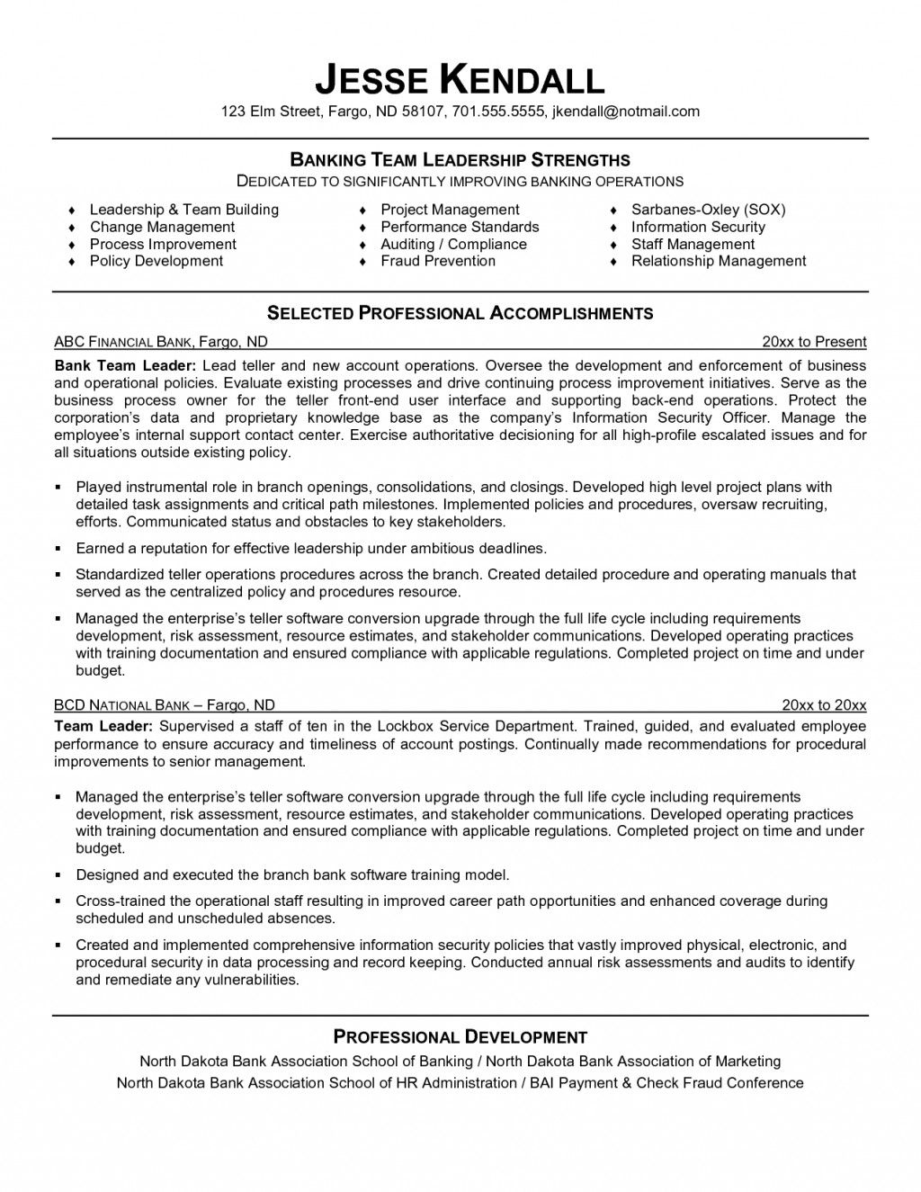 resume examples leadership skills templates bank good template agribusiness delivery Resume Leadership Resume Template