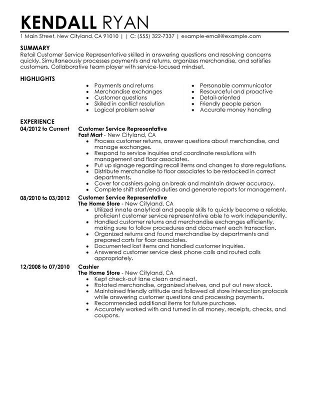 resume examples retail customer service job description for create without experience Resume Retail Customer Service Job Description For Resume