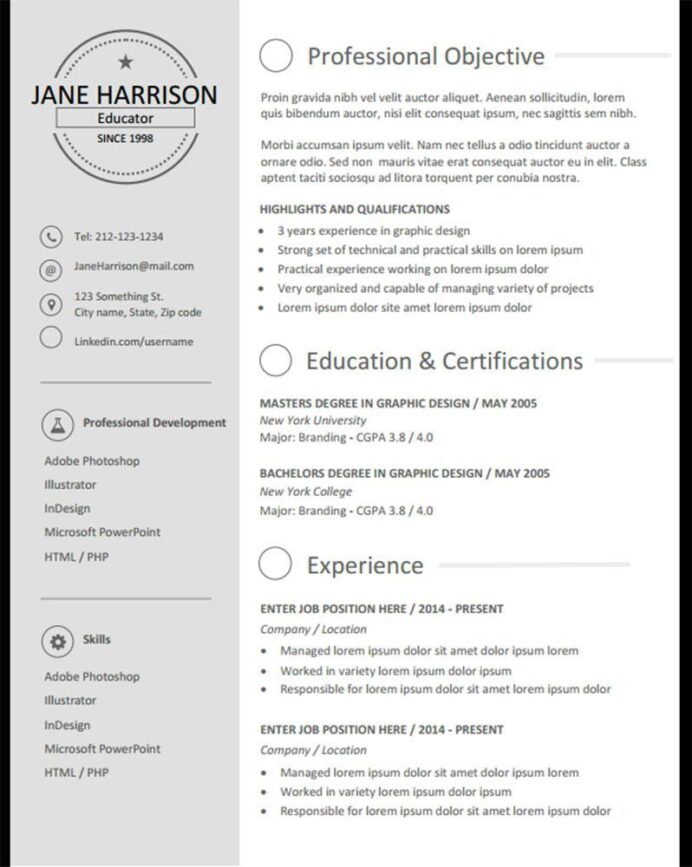 resume examples that stand out templates simple professional layouts olivia jade career Resume Resume Layouts That Stand Out
