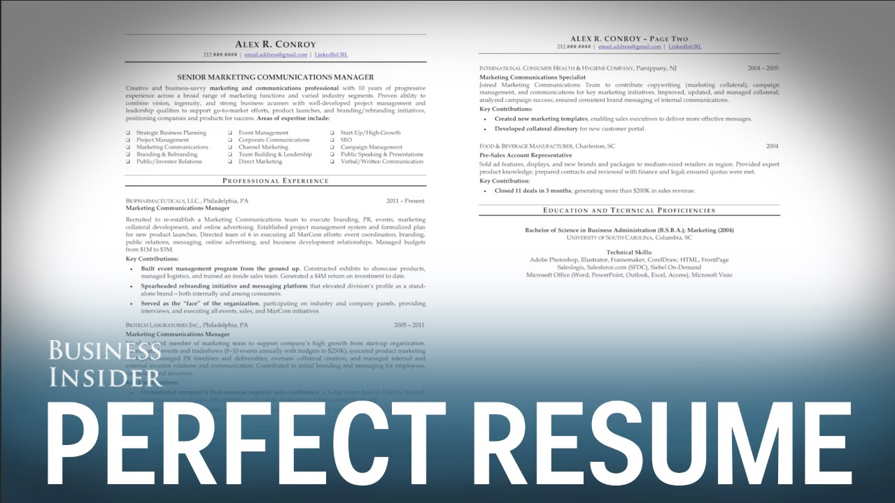résumé expert reveals perfect looks like creating the resume create free infographic Resume Creating The Perfect Resume