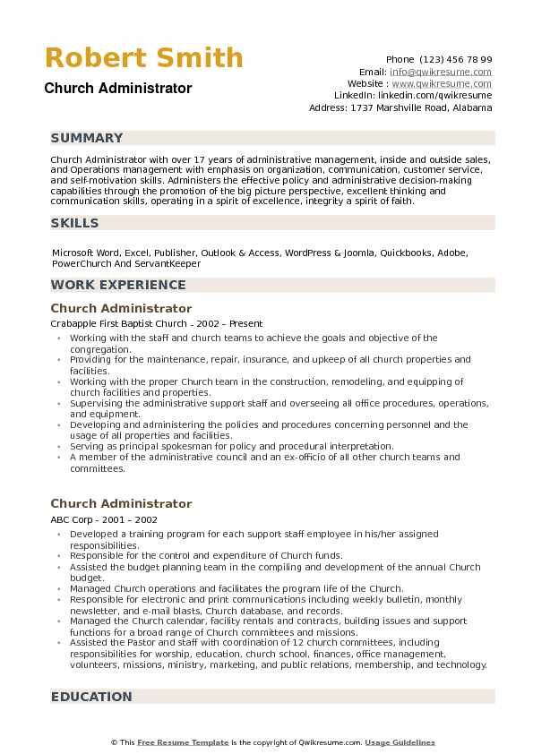 resume fabulous sample ministry and cover letter ideas church administrator pdf samples Resume Ministry Resume Templates For Word