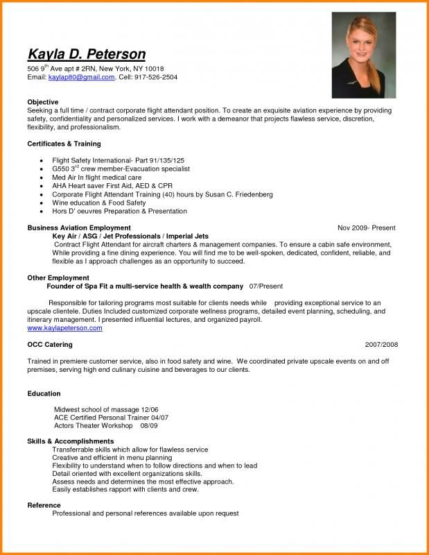 resume for flight attendant professional examples free templates format listing Resume Flight Attendant Resume Examples
