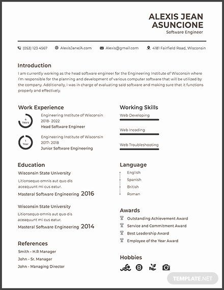 resume for google software engineer awesome free quality cv template templa sample Resume Resume Software Download Free