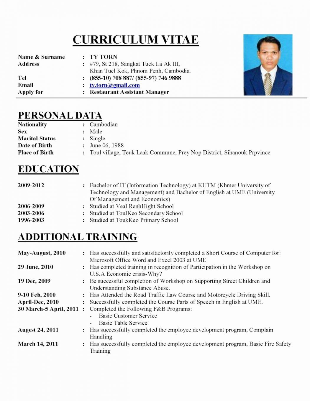 resume format examples job best cv sample for clinical informatics specialist when does Resume Best Resume Format For Job