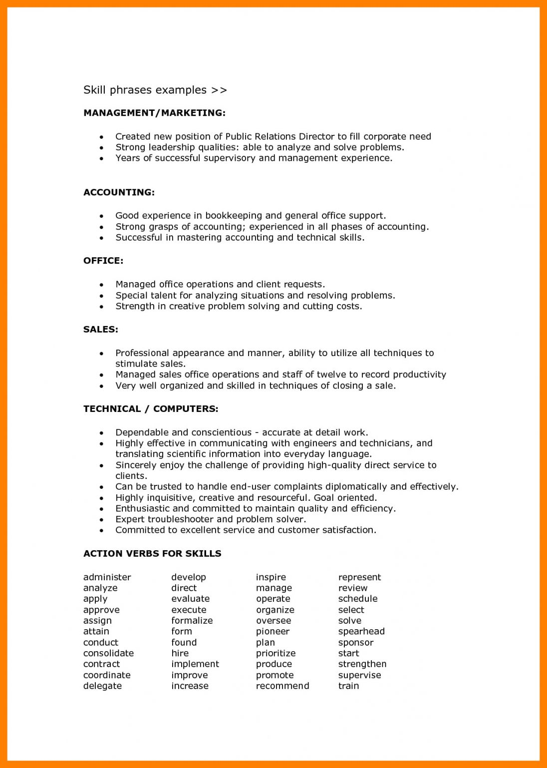 resume format language skills objective examples levels of on order the coif background Resume Levels Of Skills On Resume