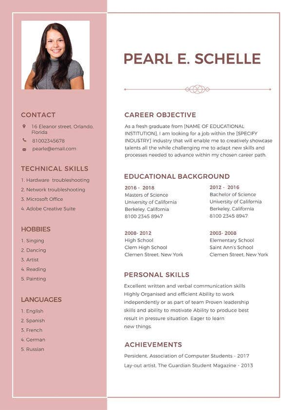 resume format word pdf free premium templates job high school template order puller Resume A Job Resume Format