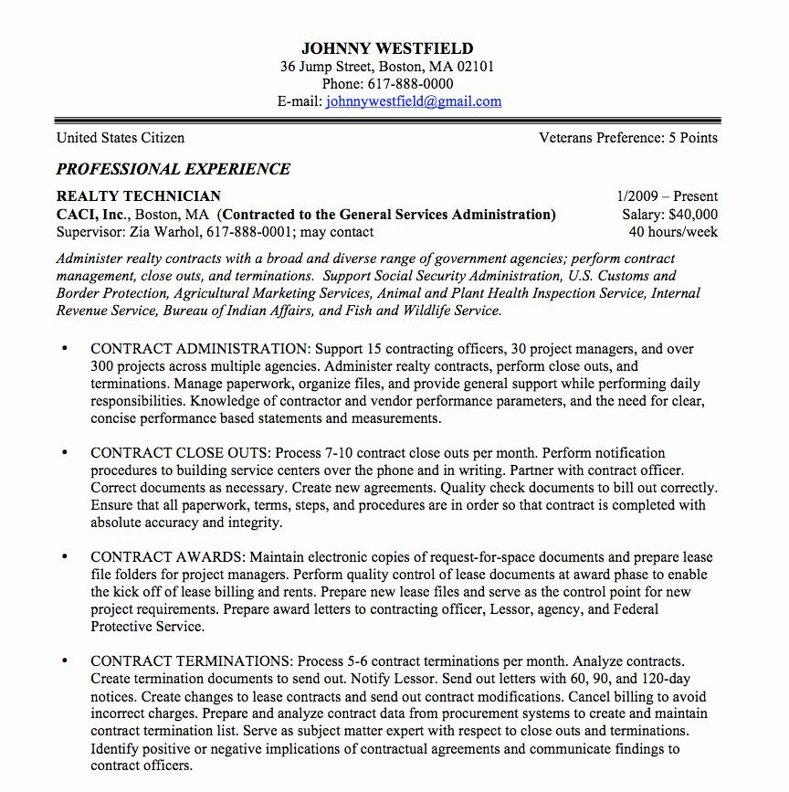 resume in paragraph form awesome federal sample and format the place job template samples Resume Federal Resume Example 2020