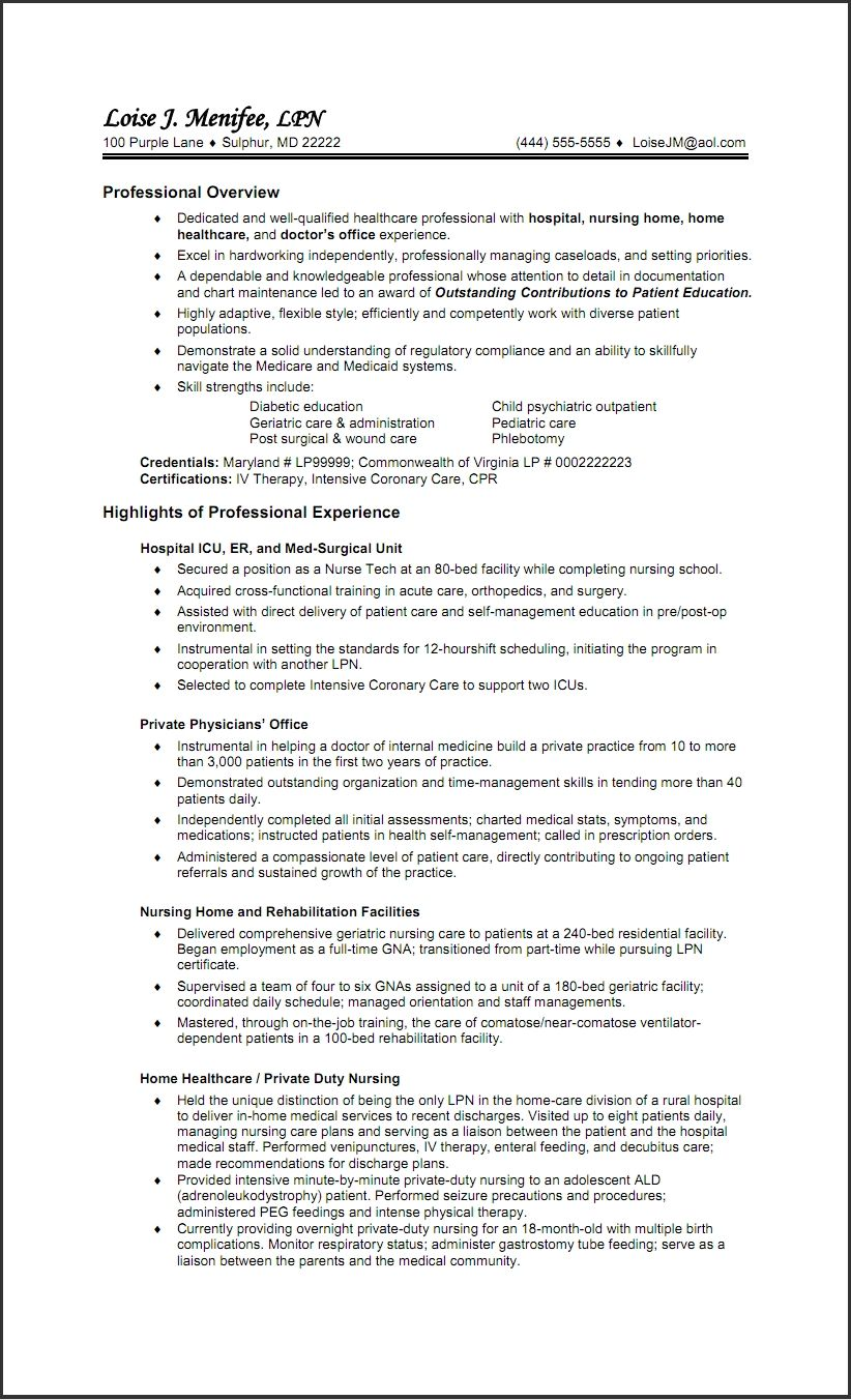 resume incredible lpn examples skills qualifications summary sample for new graduate Resume Lpn Skills For Resume