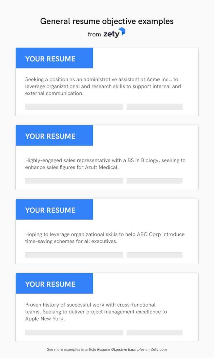 resume objective examples career objectives for all jobs writing great general contoh Resume Writing A Great Objective For Resume
