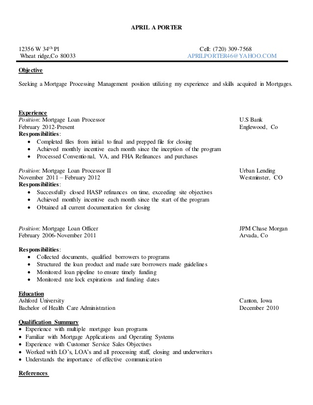 resume objective program manager skills examples professional experience certification Resume Porter Resume Objective