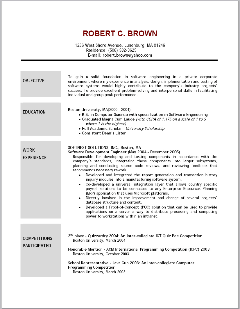 resume objective statement samples strong examples entry level retail fiber optic Resume Strong Resume Objective Samples