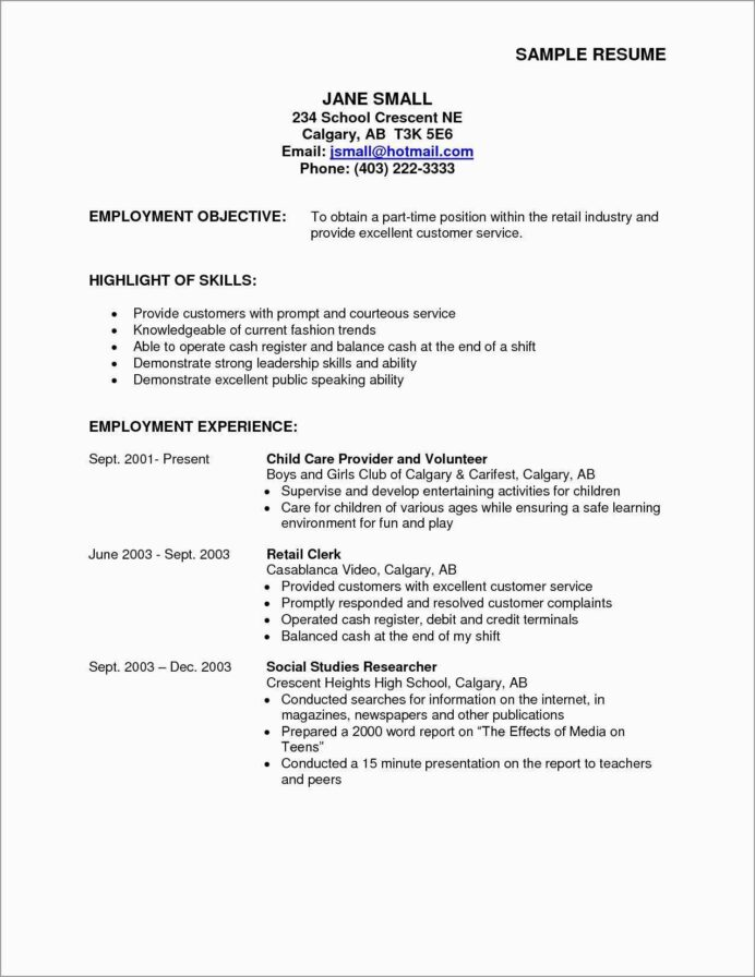resume part time job objective inspirational free pertaining to first templates best for Resume Free Resume Templates For First Time Job Seekers