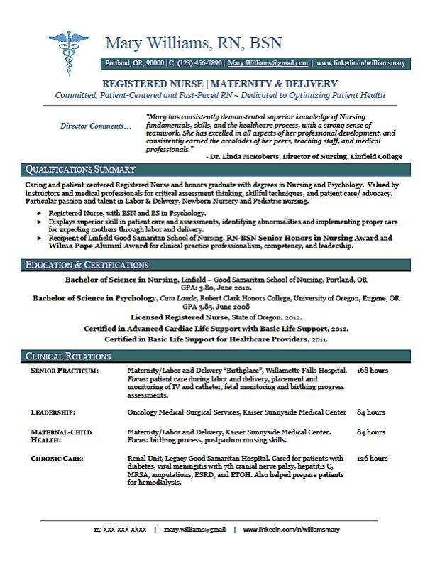 resume re rn recentgrad nursing template registered nurse new grad examples with clinical Resume Nursing Resume Examples With Clinical Experience