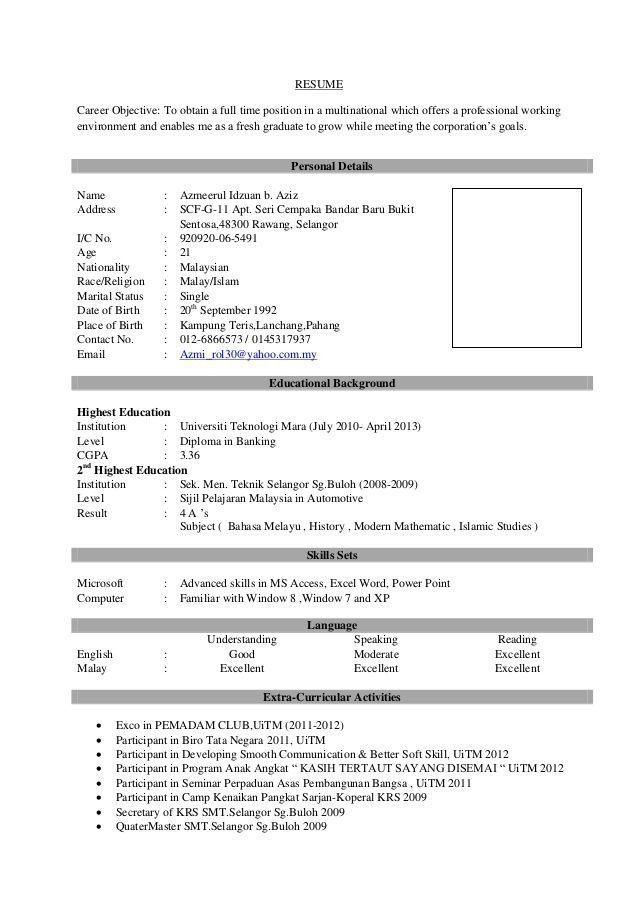 resume sample for fresh graduate popular pin by calendar on latest of coo job format Resume Sample Of Updated Resume 2020