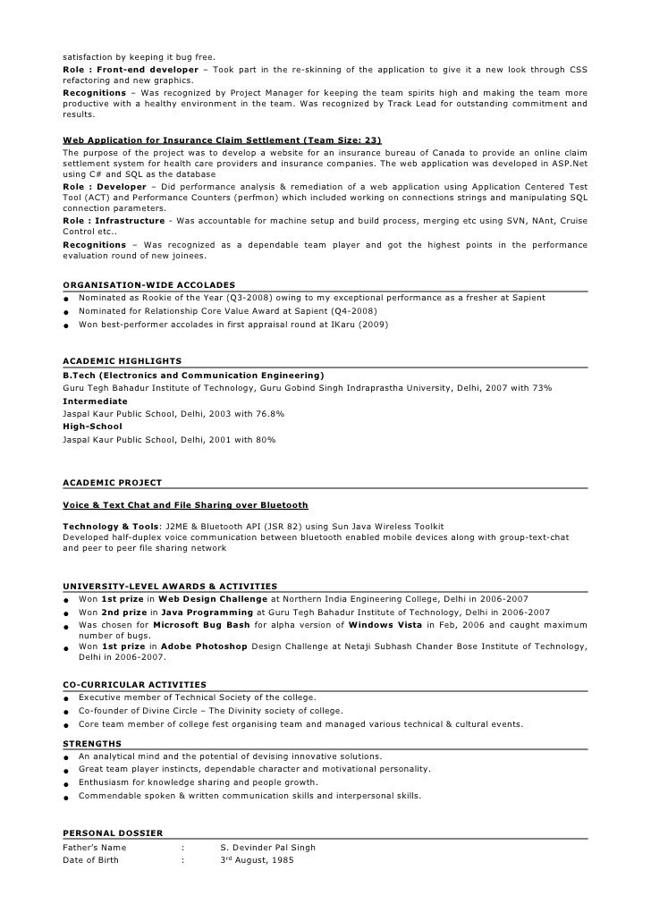 resume sample interesting format for years experience in testing job samples developer Resume Java Developer Resume 8 Years Experience