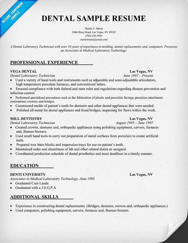 resume samples and to write companion dental hygiene templates dentist format for cna Resume Resume Format For Dentist