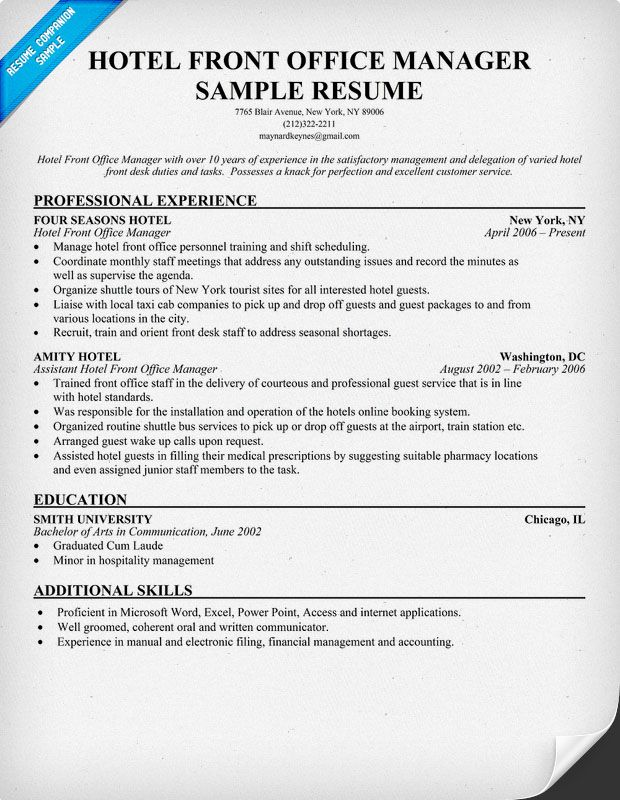 resume samples and to write companion examples medical template sample front desk manager Resume Front Desk Manager Resume
