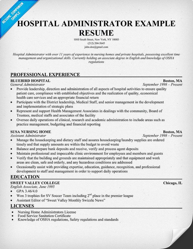 resume samples and to write companion hospital administration medical jobs examples for Resume Resume Examples For Healthcare Jobs