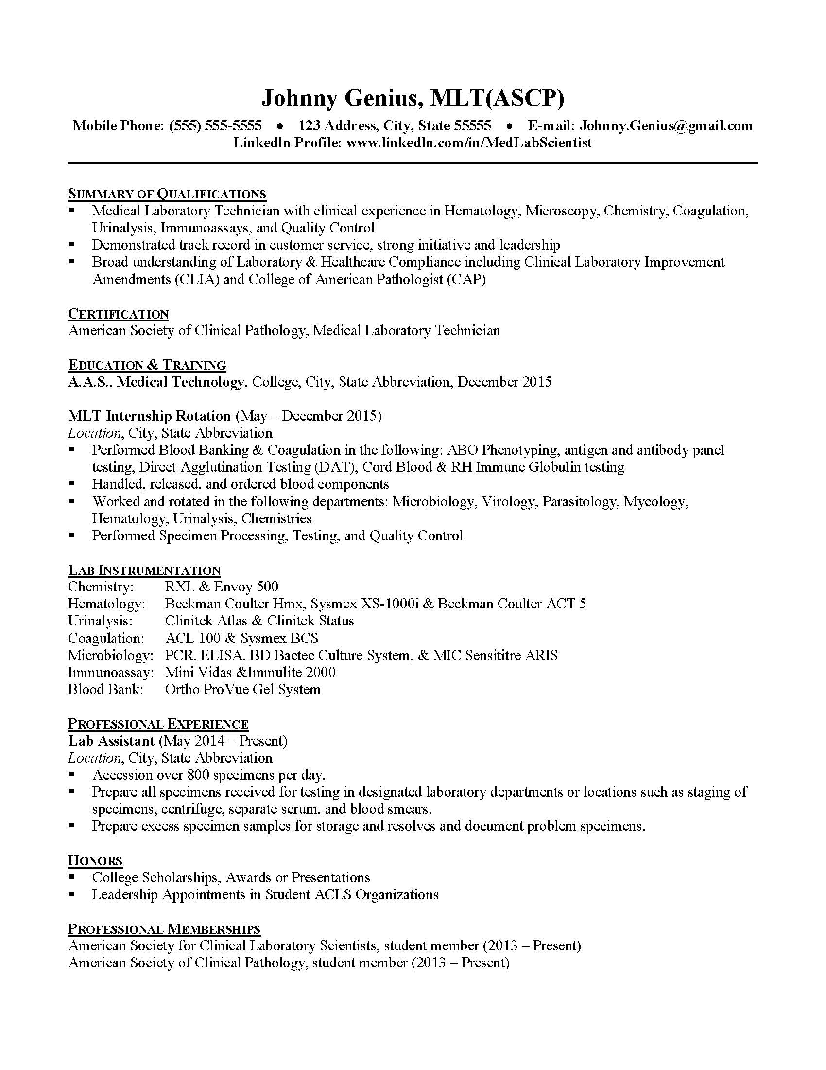 resume strategies for mlt new grad by leslee siirila infographic medical technologist Resume Medical Technologist Resume Fresh Graduate