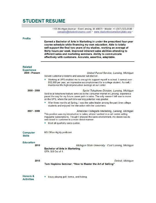 resume summary examples for high school students good example graduate mission statement Resume Good Resume Examples For Students