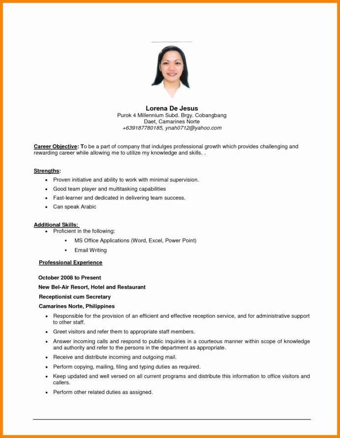 resume template beginner professional objective examples career objectives for an example Resume An Example Of Resume Objective