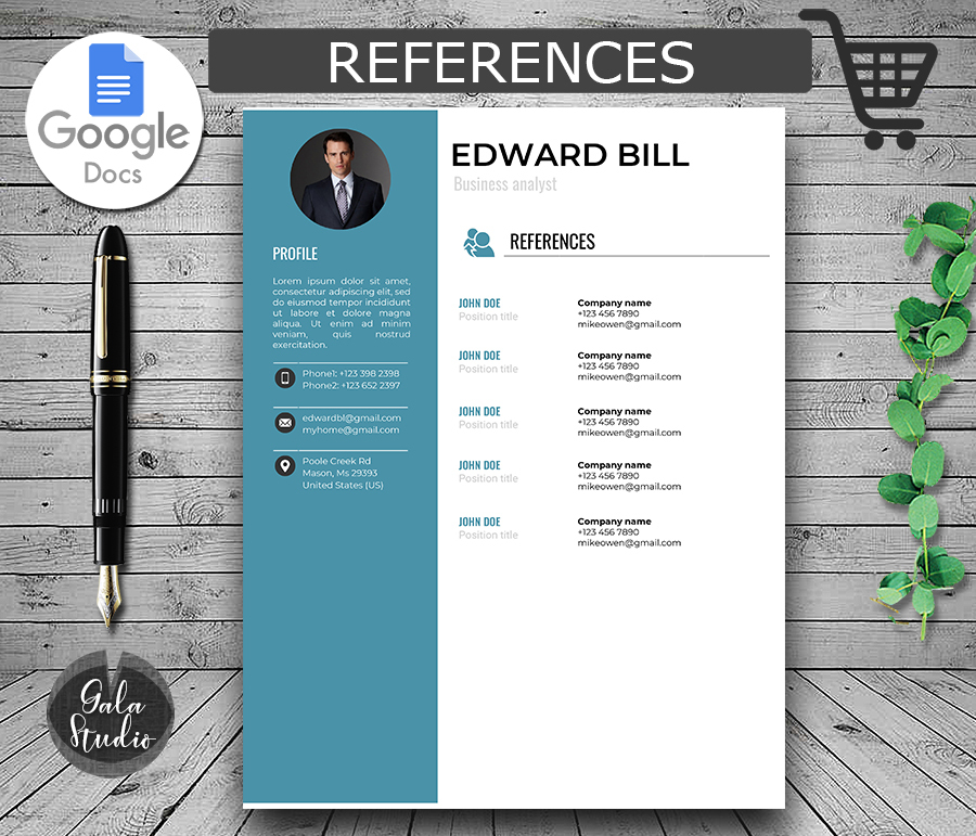 resume template cover letter and references for google docs instant templates minimalist Resume Google Docs Resume Template Download