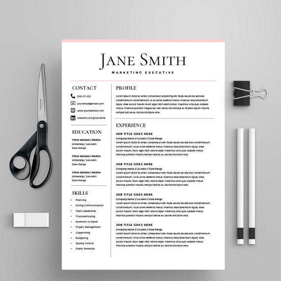 resume template cv cover letter ms word on mac etsy templates office il 570xn 76pz sample Resume Resume Templates Office Mac