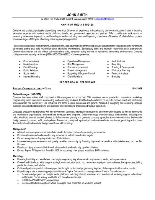resume template for chair of media studies you can it and make your own executive Resume Tim Hortons Resume Sample