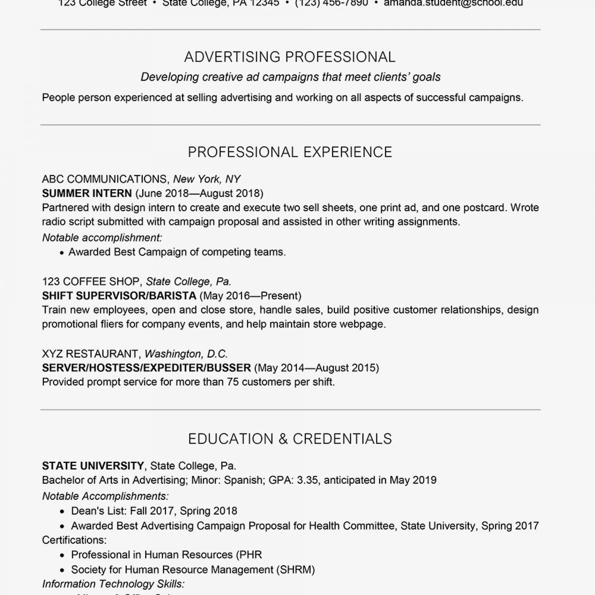 resume template for college students addictionary best format singular templates highest Resume Best Resume Format For College Students