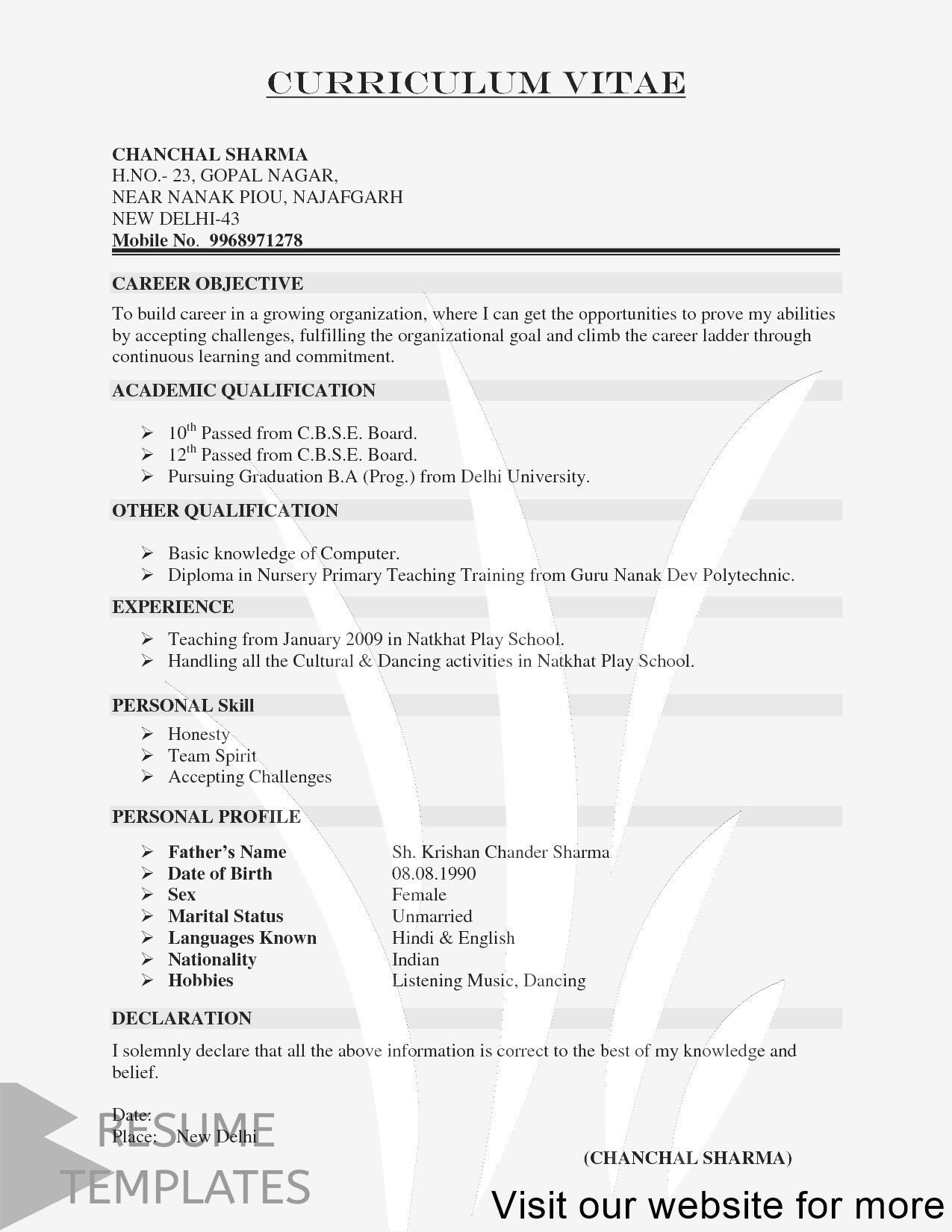 resume template free word job professional templates general construction worker format Resume Mobile Resume Templates Free