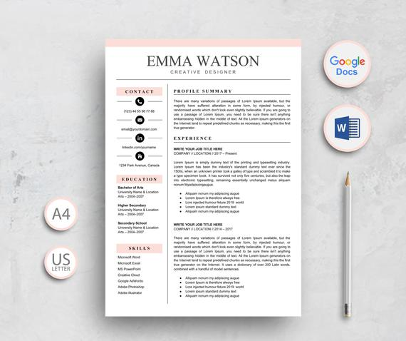 resume template google docs instant etsy free il 570xn lxcy format word expertise skills Resume Free Google Doc Resume Template Download